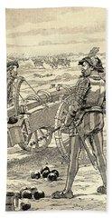 The Battle Of Marignano, 1515.  From Agenda Buvard Du Bon Marche Published 1917 Hand Towel