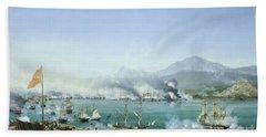 The Battle Of Navarino Bath Towel