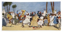 The Battle Of The Nile, From The Light Hand Towel by Lance Thackeray