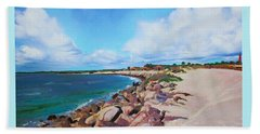 The Beach At Ponce Inlet Hand Towel