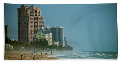 The Beach Near Fort Lauderdale Hand Towel