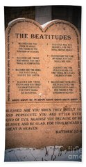 The Beatitudes Bath Towel