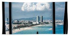 Bath Towel featuring the photograph The Beautiful Barcelona Of Spain by Sotiris Filippou