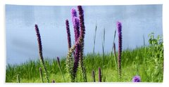 Hand Towel featuring the photograph The Beauty Of The Liatris by Verana Stark