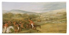 The Berkeley Hunt, Full Cry, 1842 Hand Towel