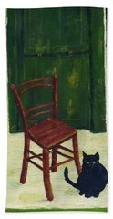 The  Black Cat Hand Towel