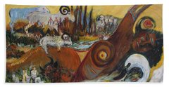 Bath Towel featuring the painting Black Hills Medley  by Avonelle Kelsey