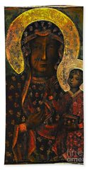The Black Madonna Bath Towel
