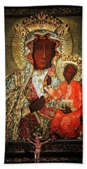 The Black Madonna Hand Towel by Mariola Bitner