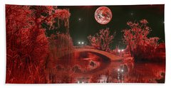 Bath Towel featuring the photograph The Blood Moon by Michael Rucker