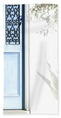 Hand Towel featuring the photograph The Blue Door by Holly Kempe