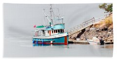 Hand Towel featuring the photograph The Boat by Jim Thompson