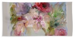 Hand Towel featuring the painting The Bouquet by Mary Wolf