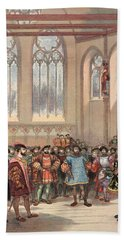 The Bourgogne Herald, Sent By Charles Bath Towel