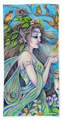 The Breath Of Spring Bath Towel by Gail Butler