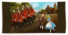 The British Soldiers Bath Towel by Reynold Jay