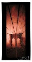 The Brooklyn Bridge Hand Towel by Edward Fielding