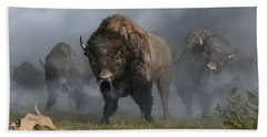 The Buffalo Vanguard Hand Towel by Daniel Eskridge