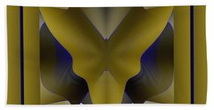 Bath Towel featuring the digital art The Butterfly by Mihaela Stancu