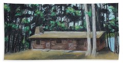 The Cabin Hand Towel by Jeanne Fischer