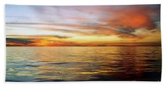 Bath Towel featuring the photograph Gulf Of Mexico The Calm Before Hurricane Katrina Off The Coast Of Louisiana by Michael Hoard