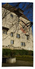 Bath Towel featuring the photograph The Castle Greets A Sunny Day by Felicia Tica