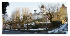 Bath Towel featuring the photograph The Castle In Winter Light by Felicia Tica