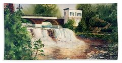 The Chagrin Falls In Summer Hand Towel