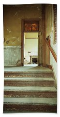 The Chair At The Top Of The Stairs Bath Towel by Holly Blunkall