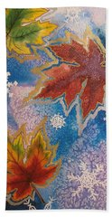 Bath Towel featuring the painting The Change by Margaret Bobb