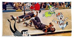 The Chipmunks Skating Roller Derby Bath Towel