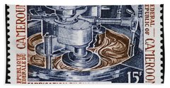 The Chocolate Factory Vintage Postage Stamp Hand Towel