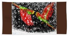 The Christmas Keets Bath Towel by Jean Pacheco Ravinski