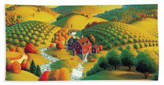 The Cider Mill Hand Towel by Robin Moline