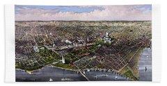 The City Of Washington Birds Eye View Hand Towel