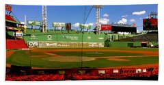 Bath Towel featuring the photograph The Classic  Fenway Park by Iconic Images Art Gallery David Pucciarelli