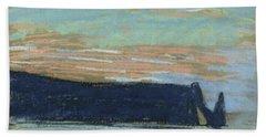 The Cliff At Etretat, C.1885 Pastel Bath Towel