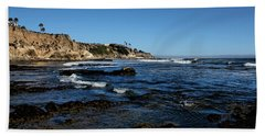 The Cliffs Of Pismo Beach Hand Towel by Judy Vincent