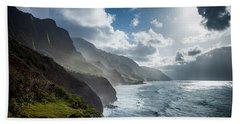 The Cliffs Of Kalalau Bath Towel