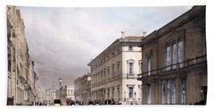 The Club Houses, Pall Mall, 1842 Bath Towel