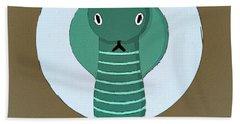 The Cobra Cute Portrait Hand Towel by Florian Rodarte