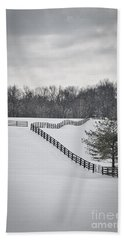 The Color Of Winter - Bw Bath Towel by Mary Carol Story