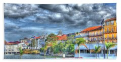 The Colors Of Casco Viejo Hand Towel by Bob Hislop