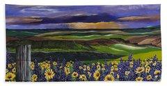 The Colors Of The Plateau Bath Towel by Jennifer Lake