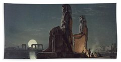 The Colossi Of Memnon, Thebes, One Bath Towel