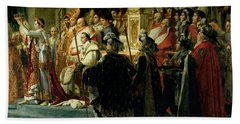 The Consecration Of The Emperor Napoleon 1769-1821 And The Coronation Of The Empress Josephine Bath Towel