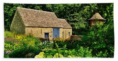 The Cotswald Barn And Dovecove Hand Towel by Daniel Thompson