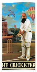 The Cricketers Hand Towel by Peter Green
