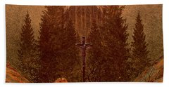 The Cross In The Mountains Bath Towel