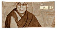 The Dalai Lama Bath Towel